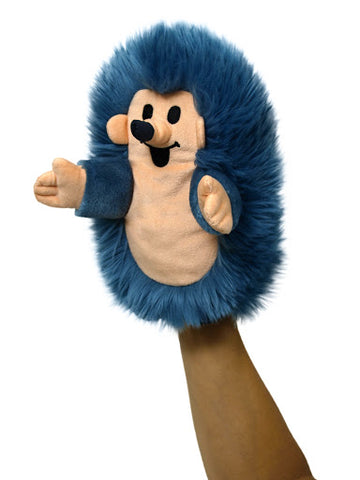 Copy of Jezek 23cm modry manasek - Hedgehog 23cm blue, hand puppet (Little Mole)