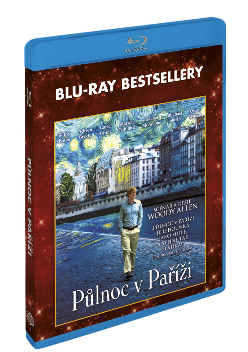 Pulnoc v Parizi BD - Blu-ray bestsellery / Midnight in Paris - Czech version