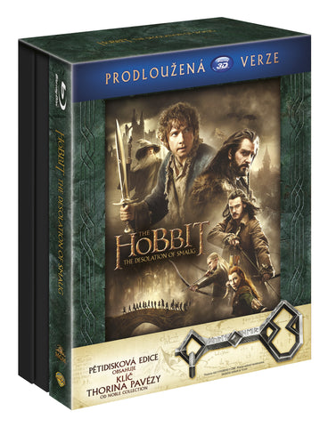 Hobit: Smakova draci poust - prodlouzena verze 5BD (3D+2D) Klic Ereboru / The Hobbit: The Desolation of Smaug - Extended Edition - Czech version