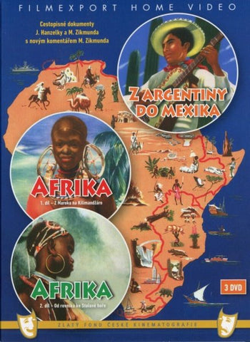 Hanzelka and Zikmund - Africa and from Argentina to Mexico/ Hanzelka a Zikmund Afrika a Z Argentiny do Mexika 3x DVD