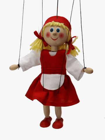 Little Red Riding Hood 20 cm Wooden puppet - czechmovie