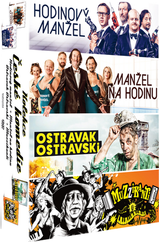 Czech comedies Husband to Rent+Husband for Hour+Ostravak Ostravski+Musicians 4x DVD