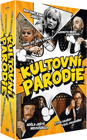 Cult czech parody movie 5x DVD/Kultovni ceske parodie 5x DVD
