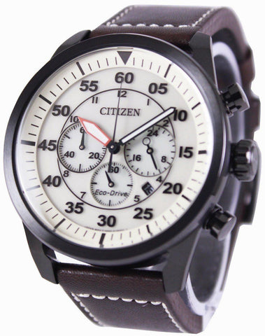 Citizen Eco-Drive Aviator Chronograph CA4215-04W - Men Tribe