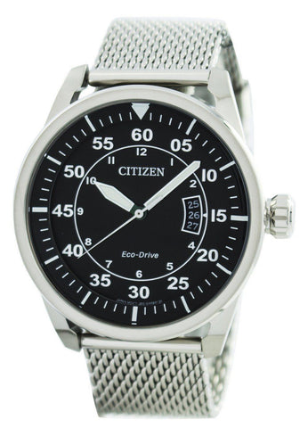 Citizen Aviator Eco-Drive Mesh Band AW1360-55E - Men Tribe