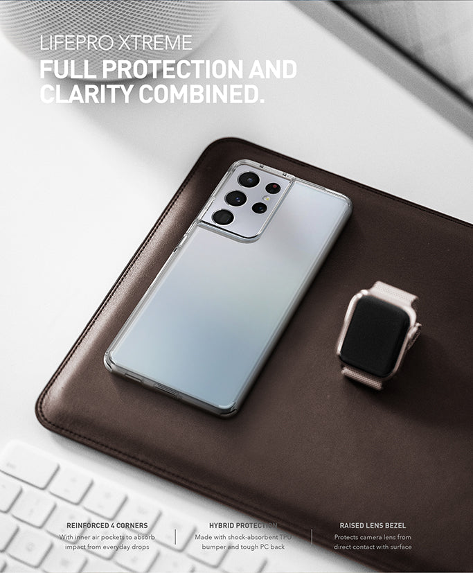UNIQ LifePro Extreme Hybrid Clear Case for Samsung S21, S21 Plus, S21 Ultra