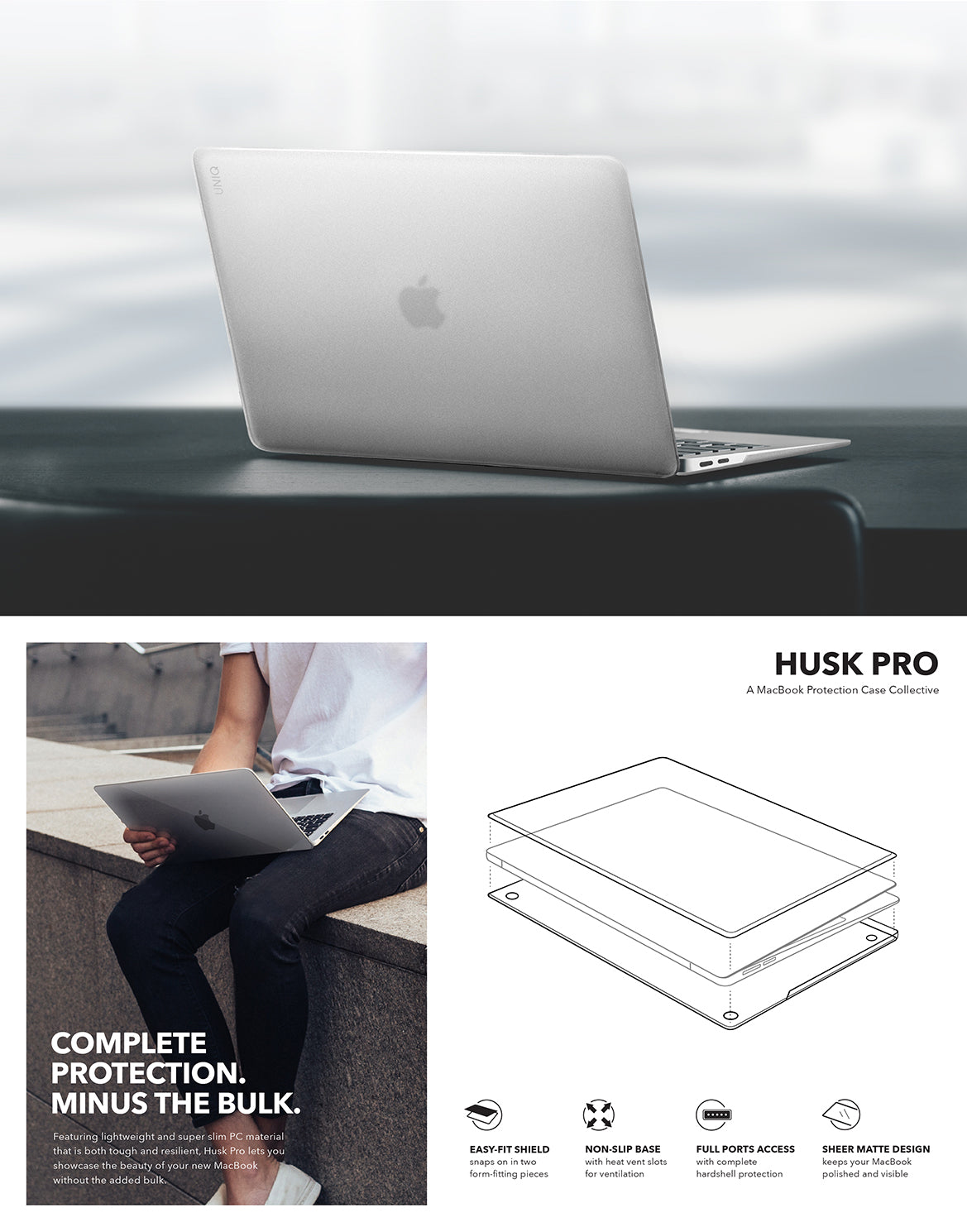 UNIQ CLARO HUSK PRO FROSTED MACBOOK CASE