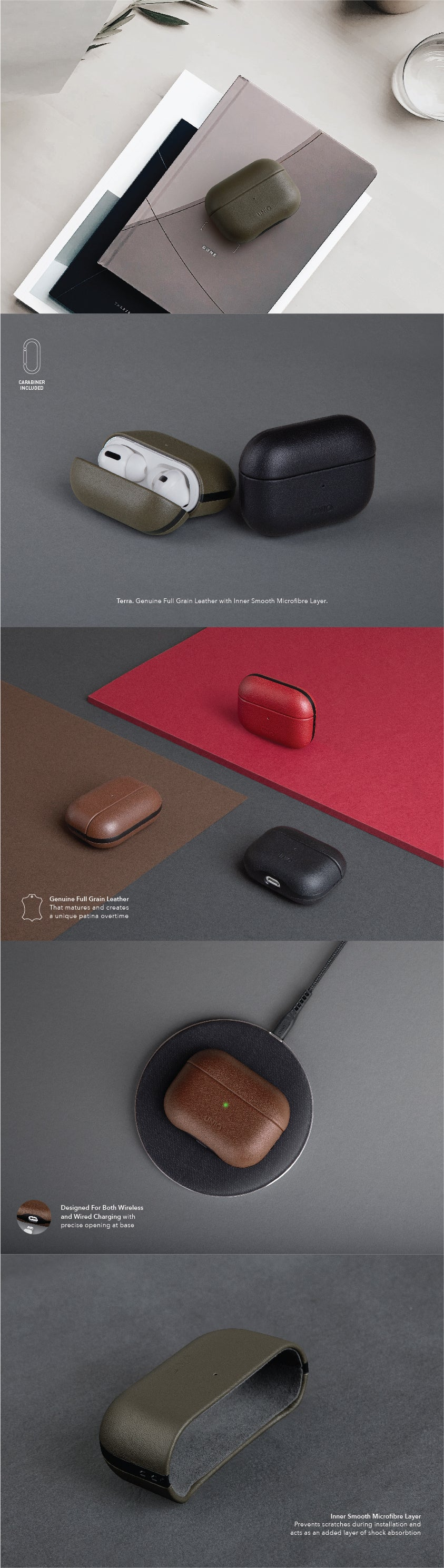 UNIQ Terra Genuine Leather AirPods Pro Case