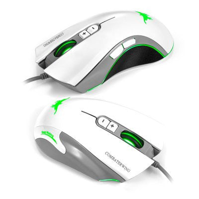 Combaterwing CW10 White 4800 DPI Wired Gaming Mouse - GGR Electronics