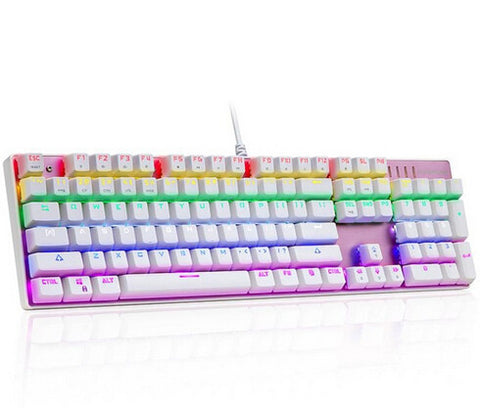 Motospeed Inflictor CK104 Rose Gold Mechanical Keyboard - GGR Electronics