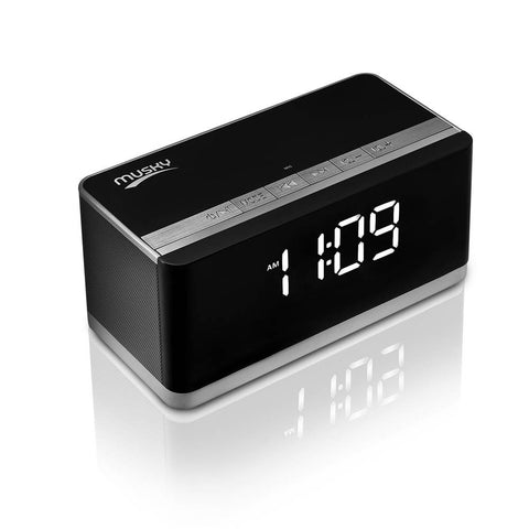 Musky DY-27 10W Portable Bluetooth Speaker with LED Display, Alarm Clock, Hands-free Answer Calls, FM and Card Music - GGR Electronics