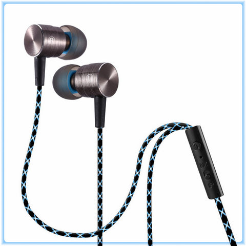 PLEXTONE X41M Wired Earphones 3.5mm Plug Metal Line-control built in Mic - GGR Electronics