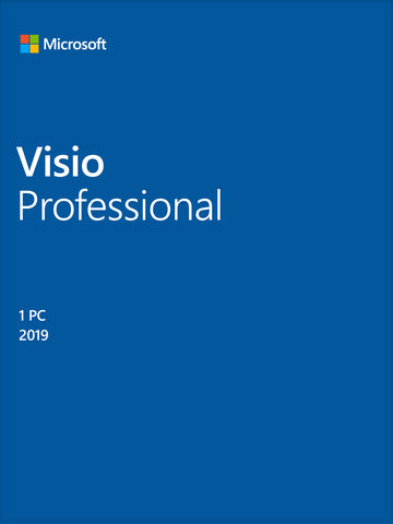 Microsoft Visio Professional 2019 - Full Version License for Windows - GGR Electronics