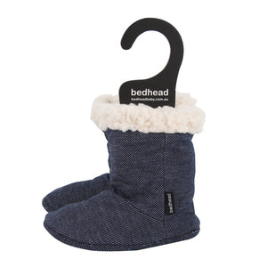 Bedhead Fleecy Baby Booties Denim