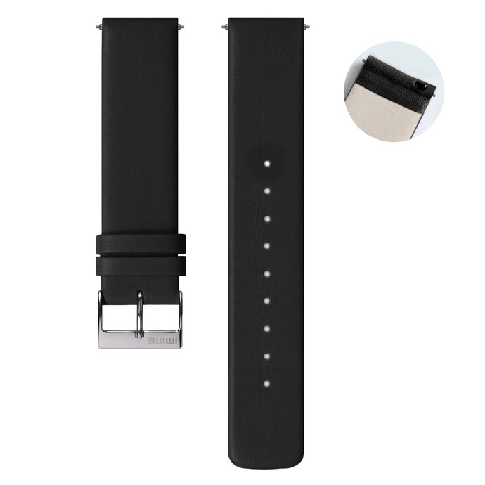S-001 - Leather watch strap | Black
