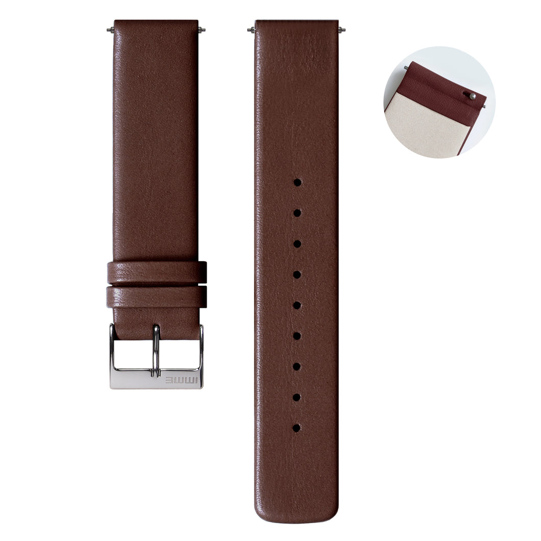 S-002 - Leather watch strap | Brown 20mm