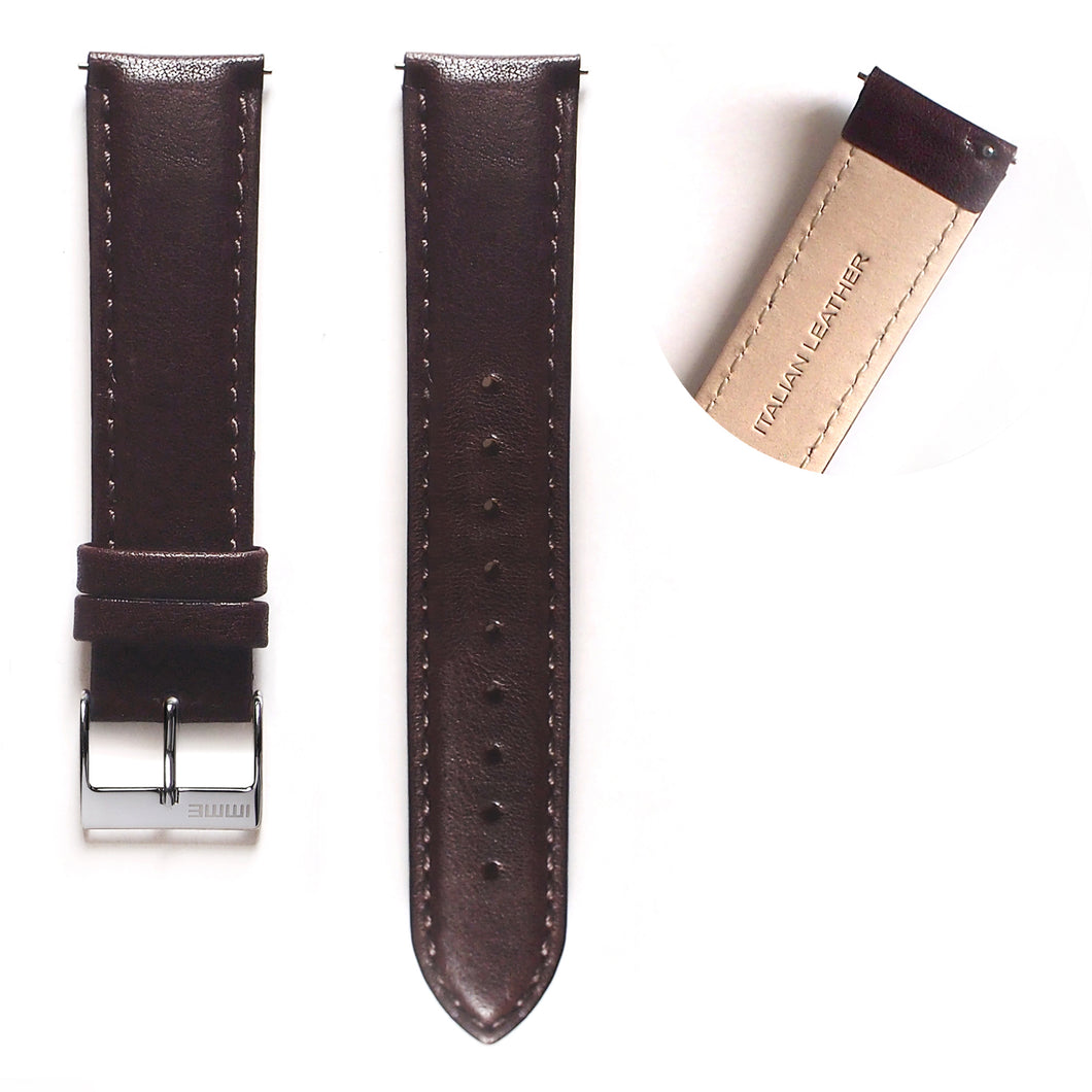 LS-002 - Leather watch strap | Brown 20mm