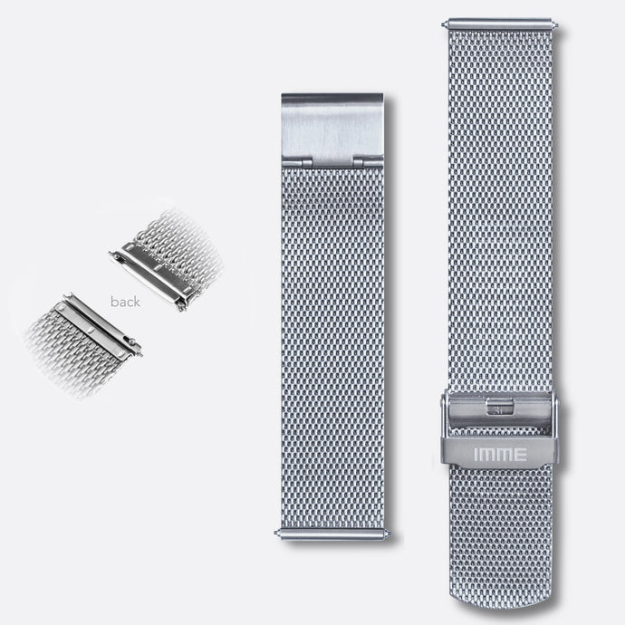 M-001 - Steel mesh watch band | Silver 20mm