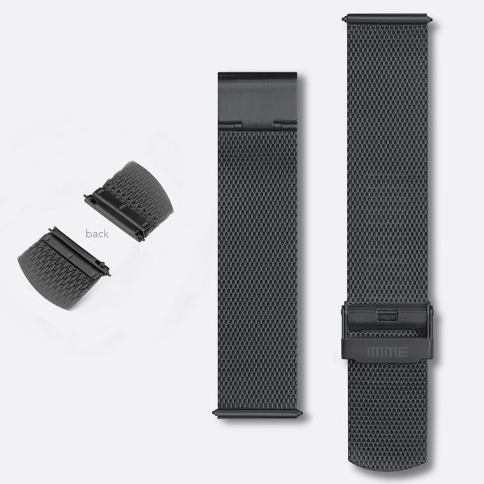 M-002 - Steel mesh watch band | Black 20mm