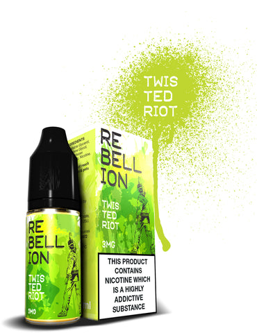 rebellion twisted riot eliquid high vg juice for ecigarette
