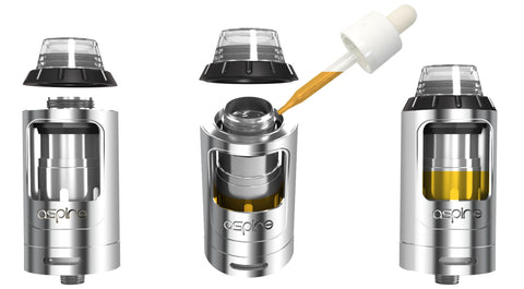 aspire athos tank top filling for e-cigarette vape supplies uk