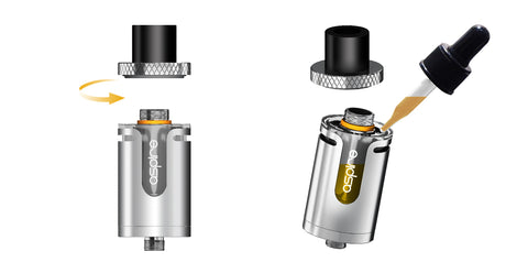 aspire cleito exo tank top fill for ecigarette and eliquid