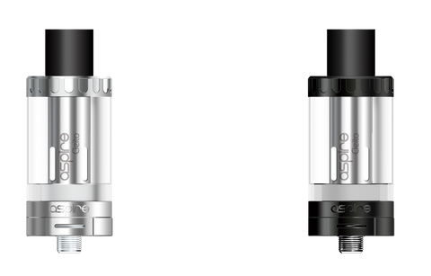 Aspire Cleito tank glass black and silver vaping