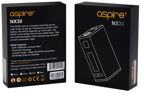 aspire nx30 box mod vape vaping uk