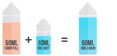 shortfill e-liquids for e-cigarette
