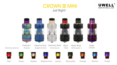 uwell crown 3 mini tank sub ohm ecigarette for eliquid