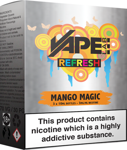 vape lab refresh e-liquids premium high vg e-juice vape supplies uk