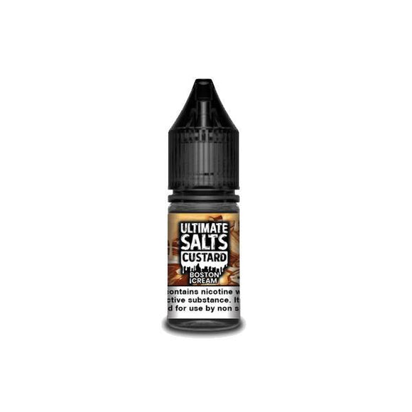 Ultimate Puff Salts Custard 10ML Flavoured 20Mg Nic Salts E-liquid-E-liquid-Ultimate Puff-Boston Cream-Cloud Vaping UK