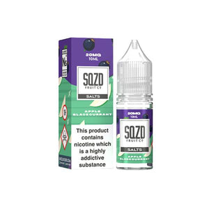Sqzd Flavoured Nic Salts 10ml 10Mg E-liquid-Vaping Products-Sqzd-Apple Blackcurrant-Cloud Vaping UK