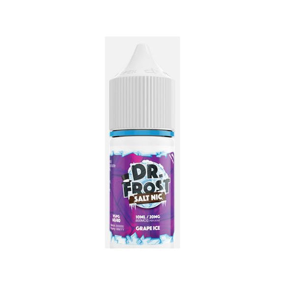 Dr Frost 10ml Flavoured Nic Salt 20Mg E-liquid-Vaping Products-Dr Frost-Grape Ice-Cloud Vaping UK