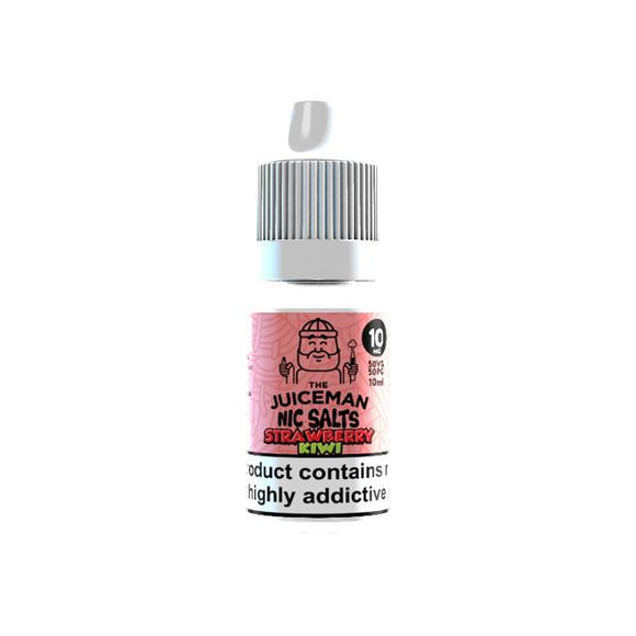 The Juiceman 10ml Flavoured Nic Salt 20Mg E-liquid-Vaping Products-The Juiceman-Strawberry Kiwi-Cloud Vaping UK