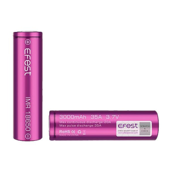 Efest 18650 3000mAh 35A Battery-Battery-Efest-Cloud Vaping UK