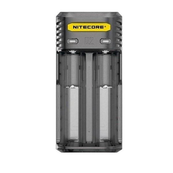 Nitecore Q2 Charger- Clear/Black-Vaping Products-Nitecore-black-Cloud Vaping UK