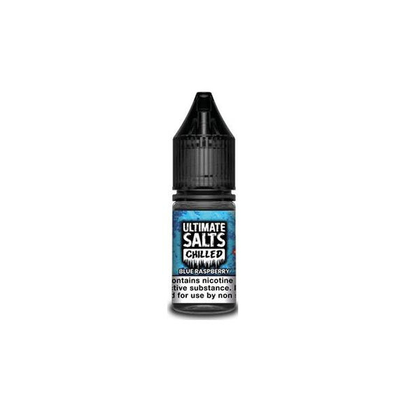 Ultimate Puff Salts Chilled 10ML 20Mg Flavoured Nic Salts E-liquid-Vaping Products-Ultimate Puff-Blue Raspberry-Cloud Vaping UK