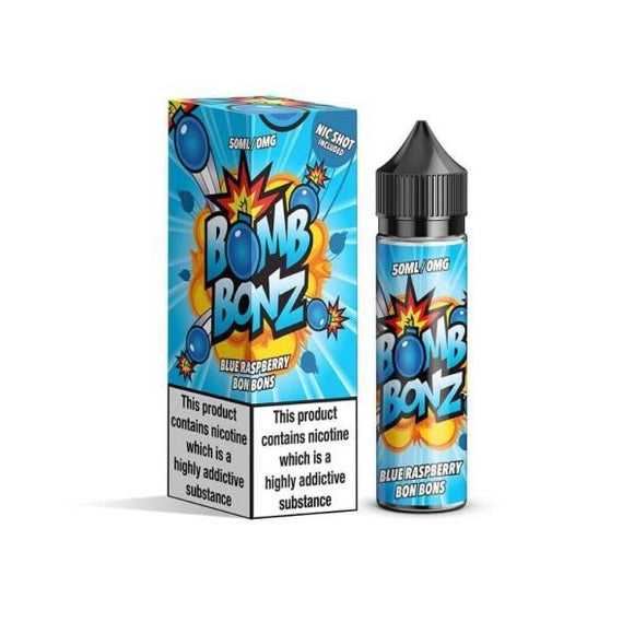 Bomb Bonz 0mg 50ml Shortfill E-liquid + FREE Nic Shot-Vaping Products-Bomb Bonz-Blue Raspberry-Cloud Vaping UK