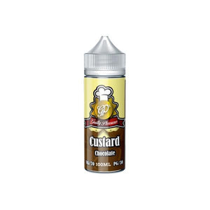 Guilty Pleasures Custard 0mg 100ml Shortfill E-liquid-E-liquid-Guilty Pleasures-Chocolate-Cloud Vaping UK