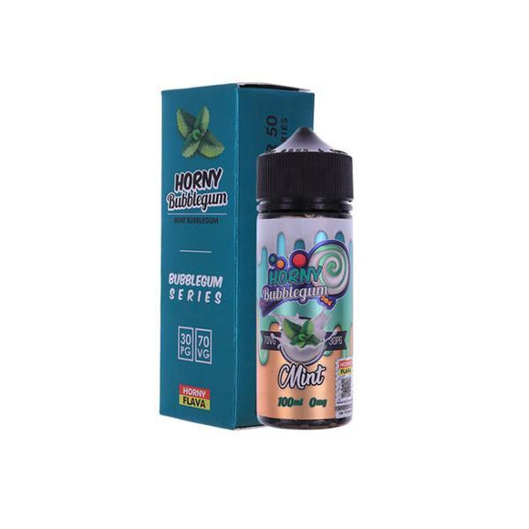 Horny Bubblegum Series 100ml Shortfill E-liquid-Vaping Products-Horny Flava-Mint Bubblegum-Cloud Vaping UK