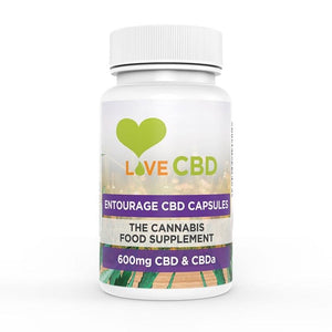 LOVE CBD ENTOURAGE CAPSULES 600MG (10MG X 60) - Cloud Vaping UK