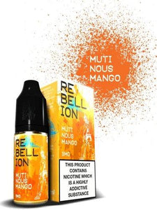 Rebellion Mutinous Mango E-liquid 10ml - Cloud Vaping UK