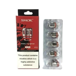 Smok V8 Baby-T12 Light Coil - 0.15 Ohm-Vaping Products-Smok-Red Light-Cloud Vaping UK