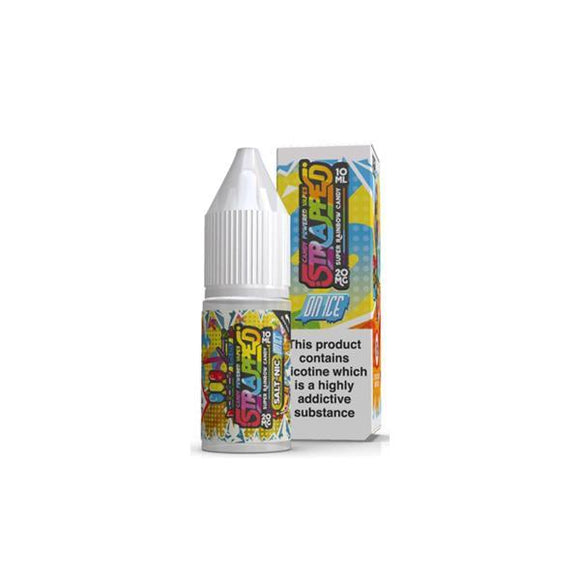 Strapped On ICE 10ml 20Mg Flavoured Nic Salt E-liquid-Vaping Products-Strapped-Super Rainbow Candy-Cloud Vaping UK