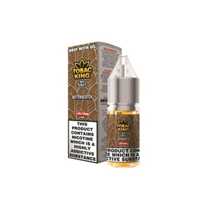 Tobac King On Salt 10ML 20Mg Flavoured Nic Salt E-liquid-Vaping Products-Drip More-Butterscotch-Cloud Vaping UK