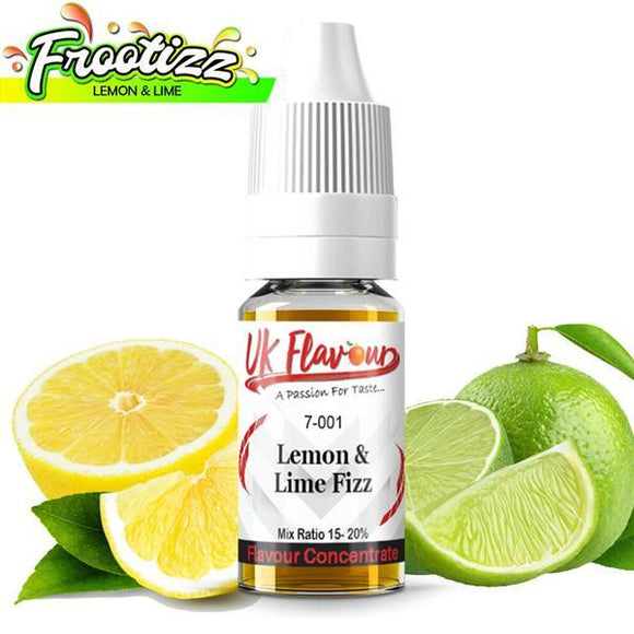 UK Flavour Fizzy Range Concentrate 0mg 10 x 10ml E-liquid-Vaping Products-UK Flavour-Lemon & Lime Fizzy-Cloud Vaping UK