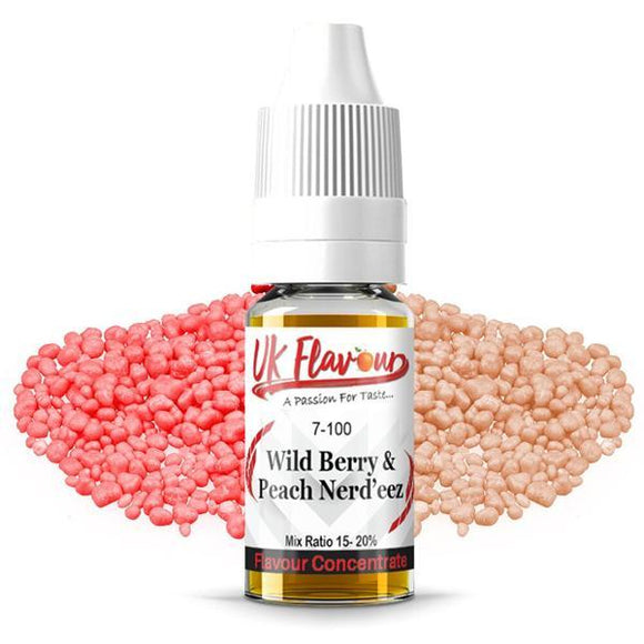 UK Flavour Nerd Range Concentrate 0mg 30ml E-liquid-Vaping Products-UK Flavour-Wild berry & Peach Nerds-Cloud Vaping UK