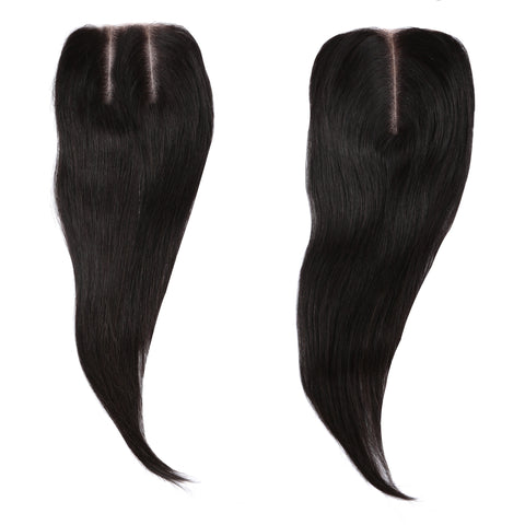"Straight Lace Closure 4"" by 4"""