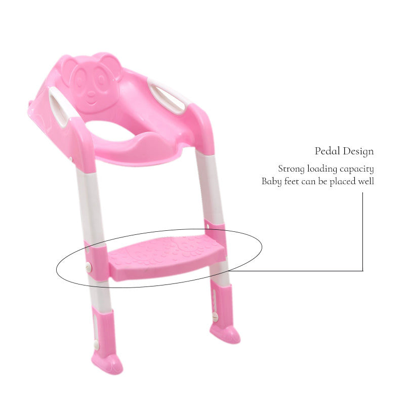 baby toilet trainer safety seat chair step with adjustable ladder. Black Bedroom Furniture Sets. Home Design Ideas